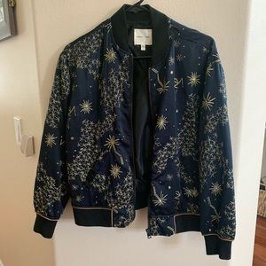 Embroider Bomber Jacket